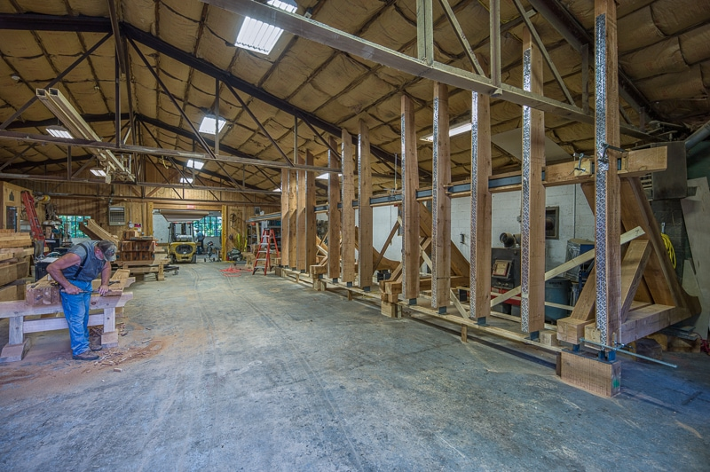 Watch A Short Video Showing How We Installed The Timber Frame Deck Brackets And Joists With 120 Ton Crane