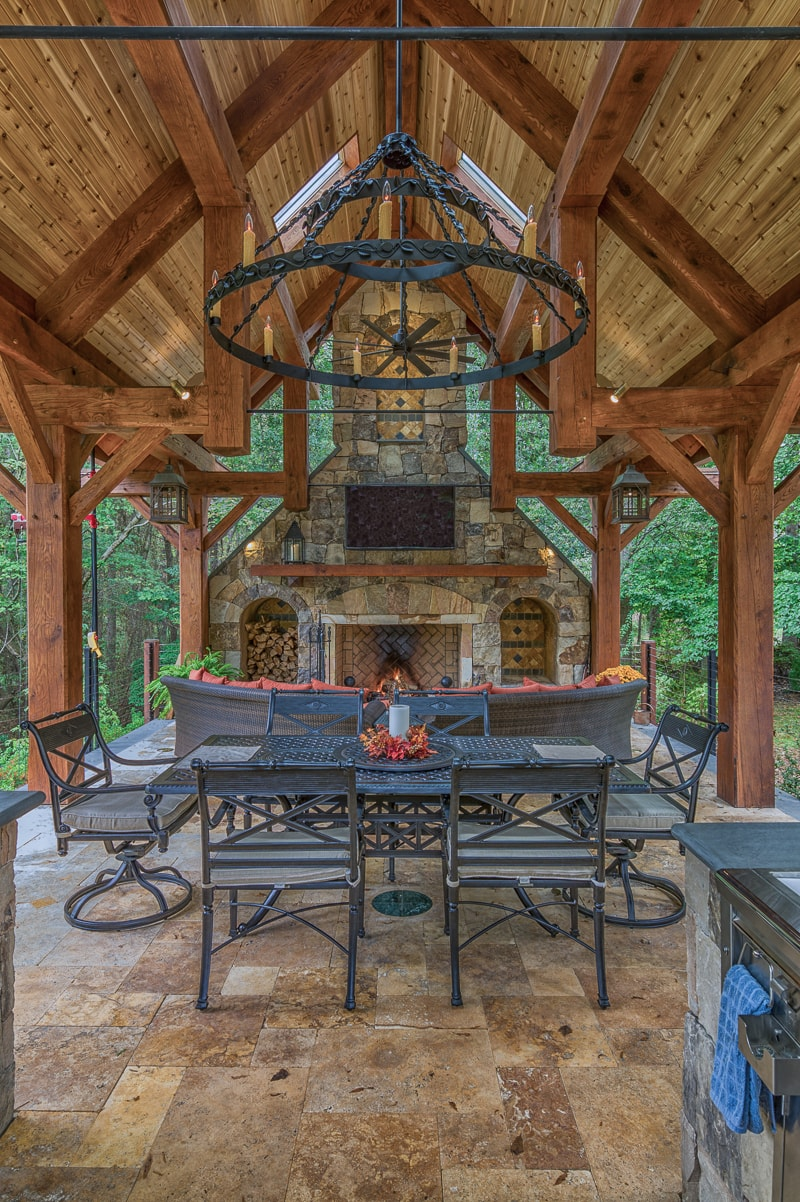 Timber frame pavilions gazebos more Granite a frame plans
