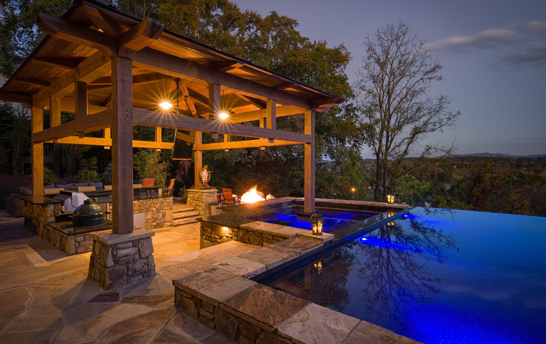 Timber Frame Pool Cabana