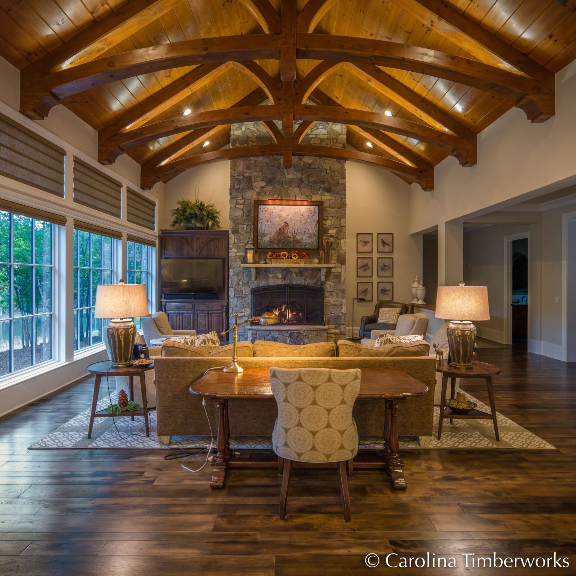 Photo Of The Day Curved Timber Trusses Carolina Timberworks