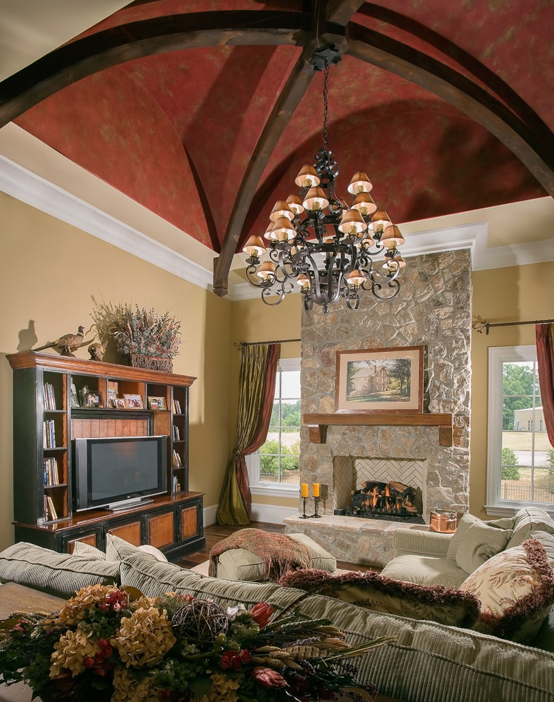 Timber frame great rooms lodge rooms and living rooms for White framed pictures for living room