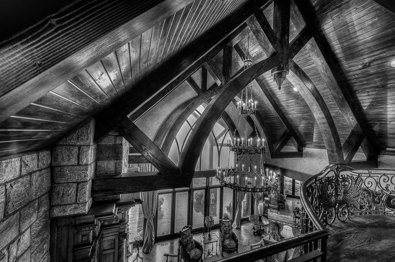 timber frame castle great room rfkd douglas fir