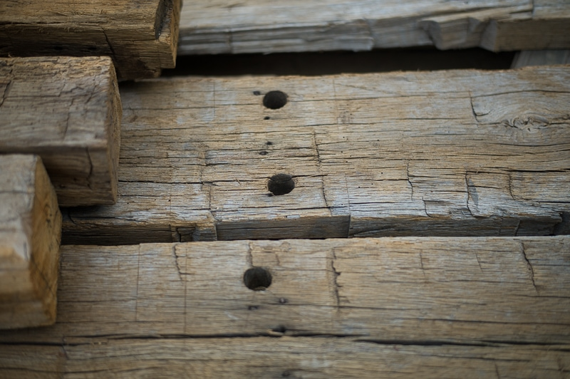 weathered reclaimed hewn old beams - Reclaimed Wood Beams