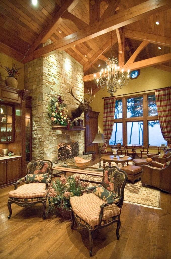 Douglas Fir Great Room Timber Frame Trusses