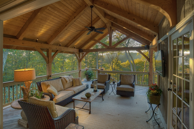 Timber frame porches for Timber frame porch designs