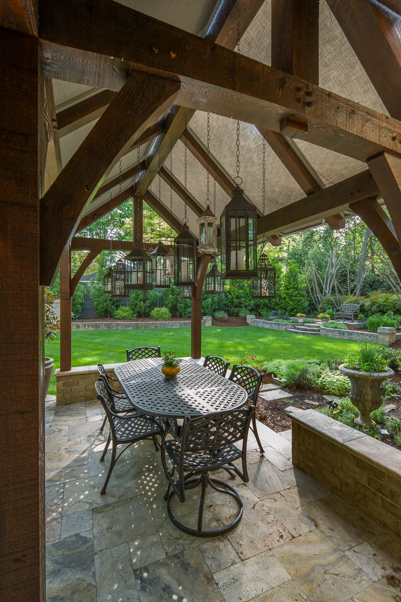 Timber Frame Dining Pavilion In Charlotte Nc