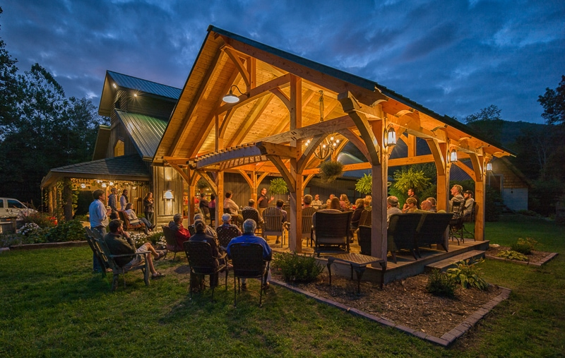grandfather vineyard & winery timber frame pavilion