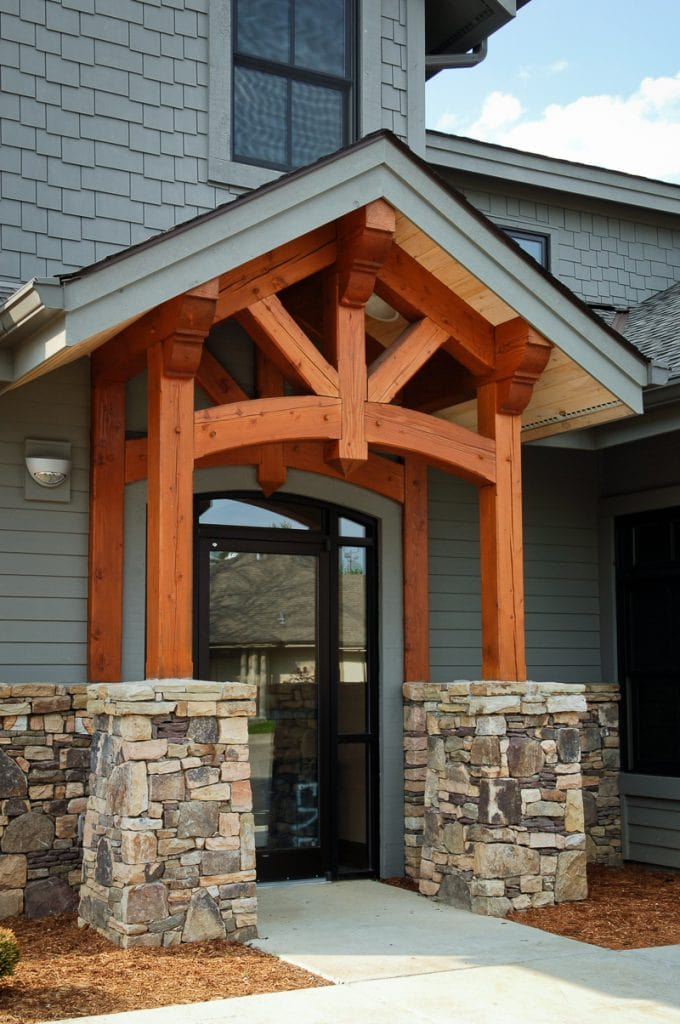 Commercial Timber Frame Side Entryway