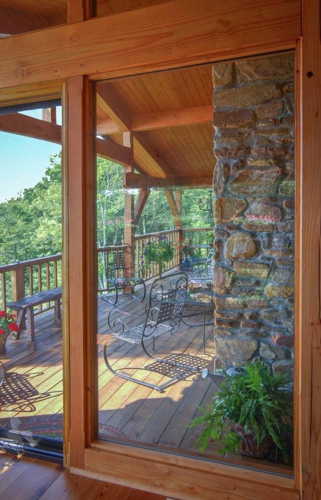 timber frame porch addition