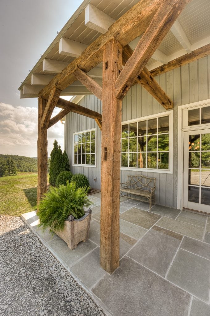 Reclaimed Barn Wood Timber Frame Front Entry