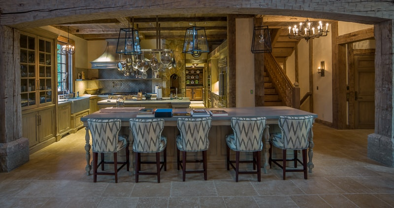 Reclaimed Wood Beams in a Greenwich CT Kitchen - Reclaimed Wood Beams