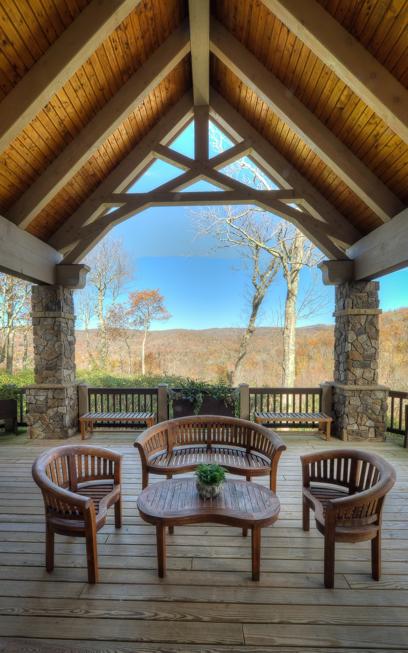 Timber frame porches for Timber frame screened porch