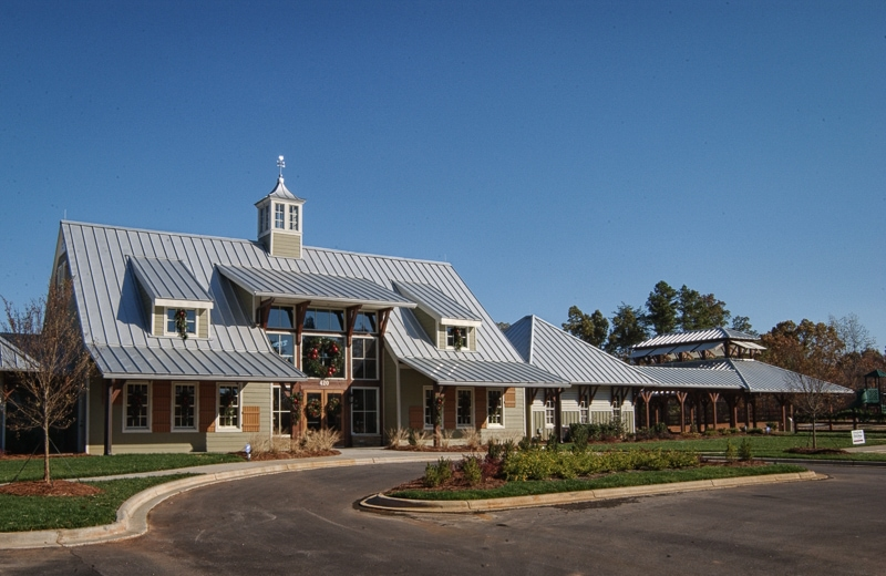The Farms Timber Frame Amenities Center on Lake Norman