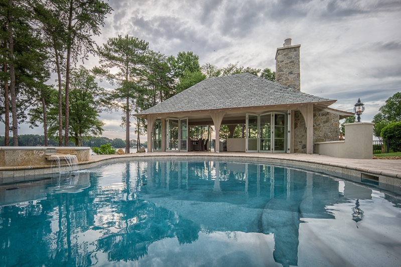 Timber Frame Pool Pavilion Addition