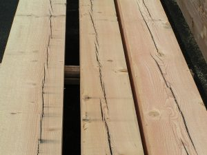 Douglas Fir Timber Checks cracks splits
