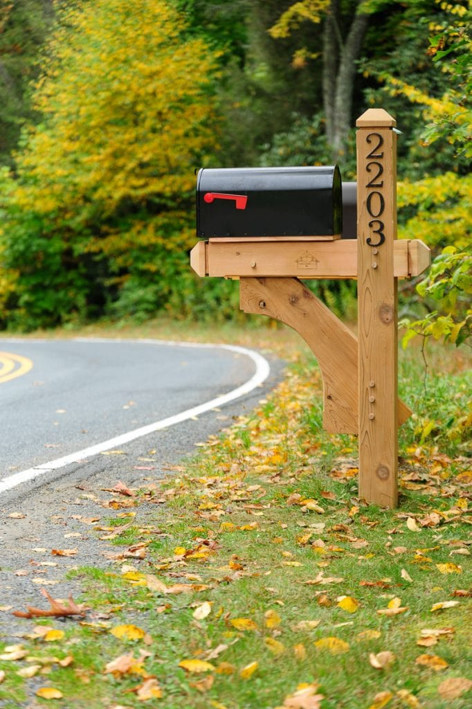 timber frame mailbox post