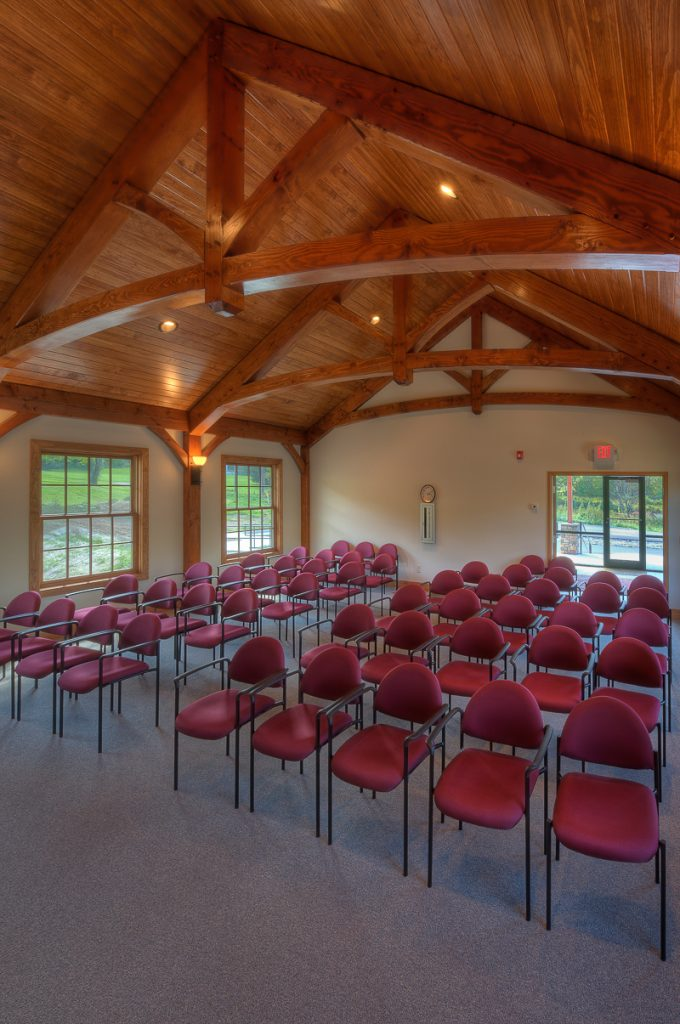 Commercial timber frame town hall meeting room