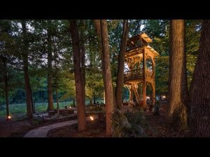 Timber Frame Tree House Tower
