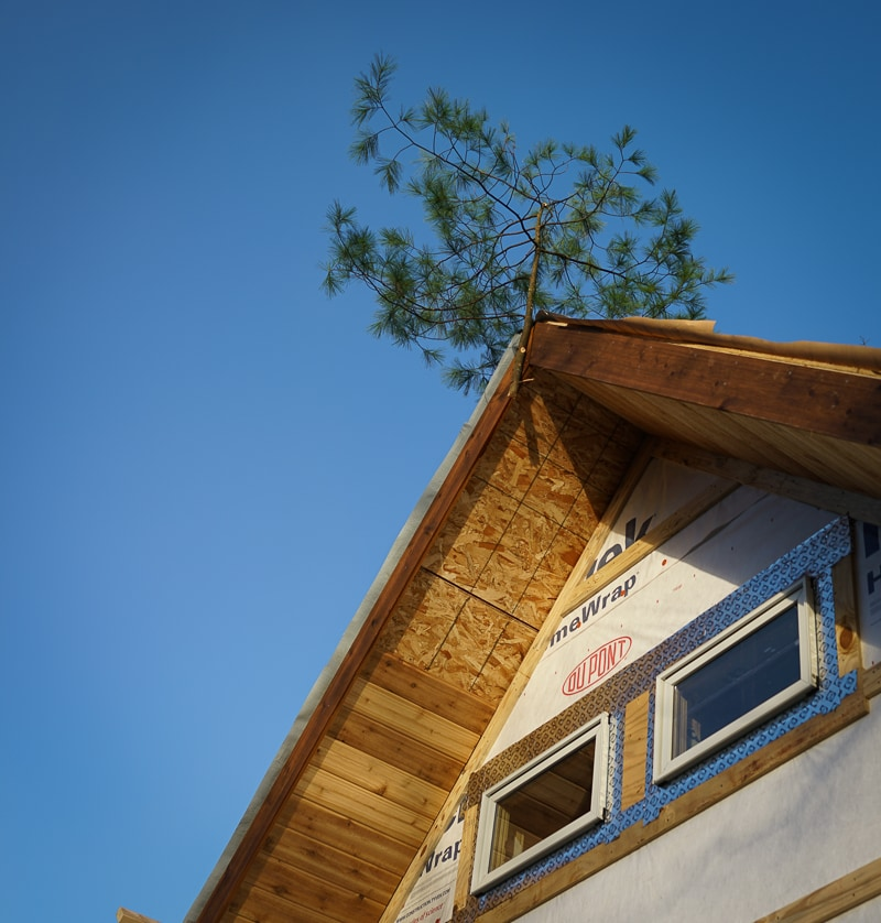 Timber framing traditions topping out ceremony