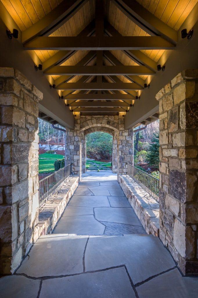 Timber Frame Home Entry
