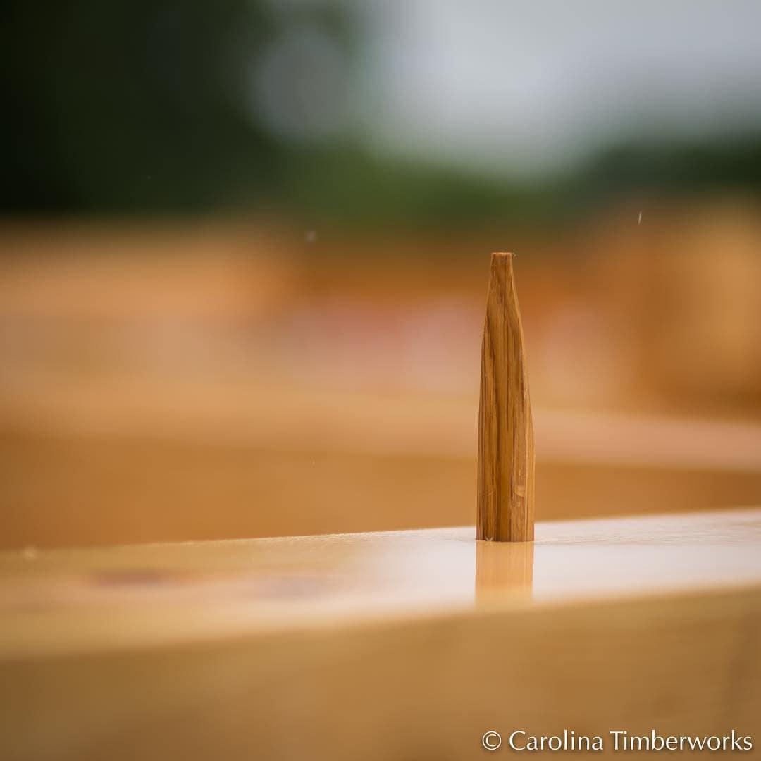 Hand-riven Oak peg or wooden nail?