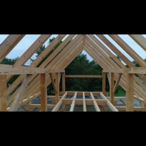 Fly through the newest Timber Framers Guild community build project…