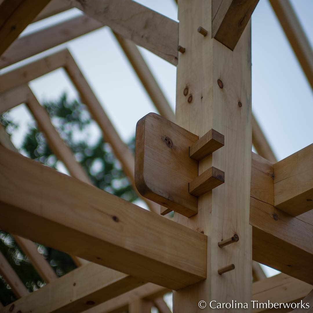 To a timber framer, this is art (credit for the work belongs to Neil Godden and everyone who helped make the latest Timber Framers Guild Community Building Project in Schuylerville, NY such a success).