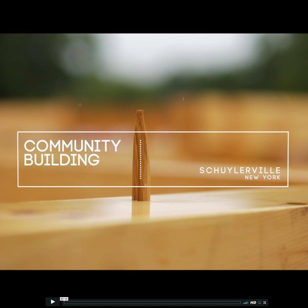 Check out a short 2:14 min video on the homepage of our website about the latest Timber Framers Guild Community Building Project in Schuylerville, NY.