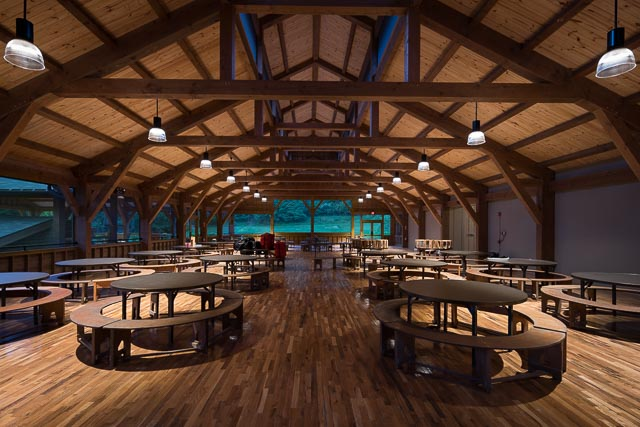 timber frame dining hall