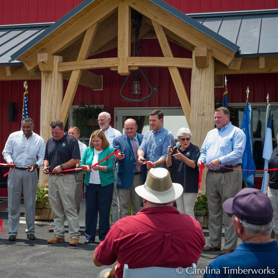 Ribbon cutting ceremony today at Landcrafted Food's new facility in Grayson County, VA.