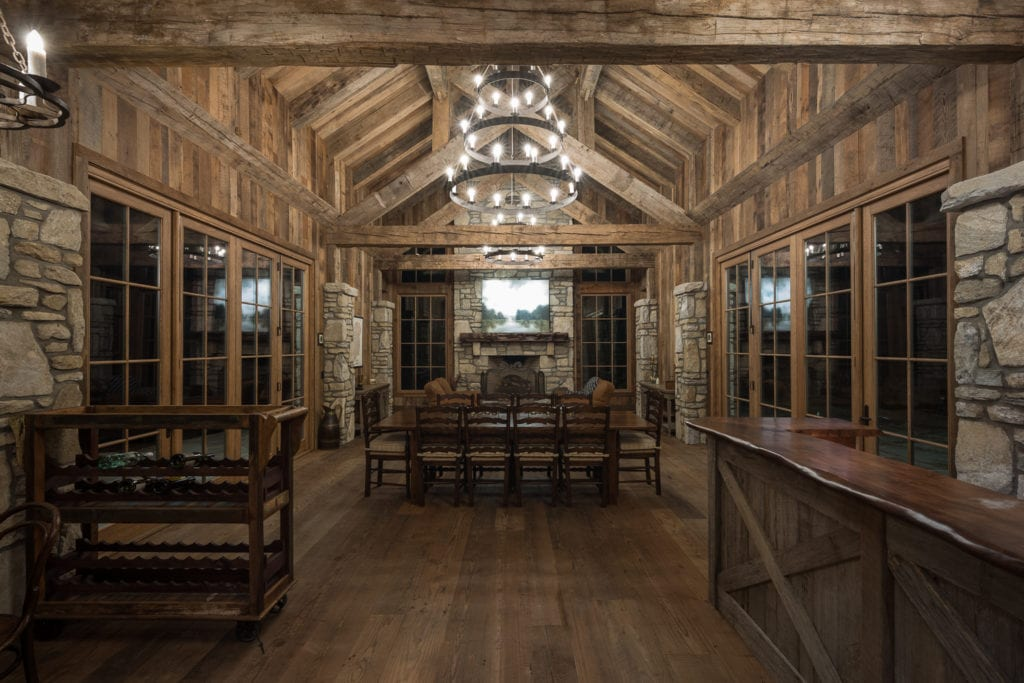 Reclaimed Beams Timber Frame Greatroom
