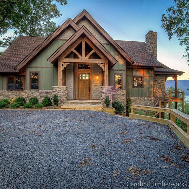 Ready for a day at the lake? We love the triple gable design featuring a Douglas Fir entry—and of course, the lake view.