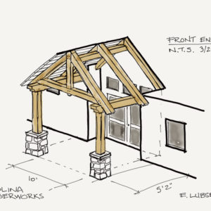 Timber Frame Entry Drawing