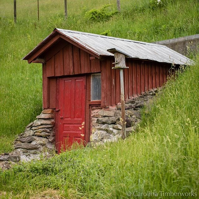 We've heard the sweetest water in the county comes from this little springhouse.
