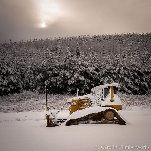 Even tractors get Snow Days….Rest, little tractor, rest. We've got big plans for you…