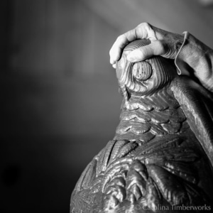 Drawing strength and inspiration from this carved owl newel post at Timberline Lodge, Mount Hood OR.