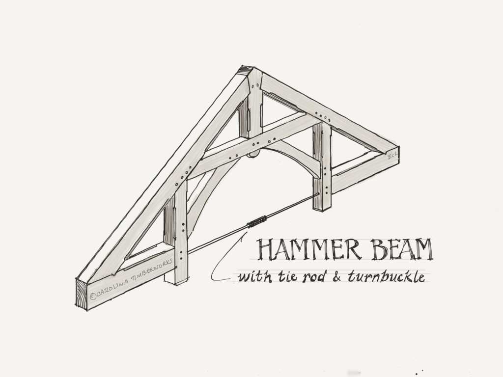 Hammer Beam Timber Frame Truss