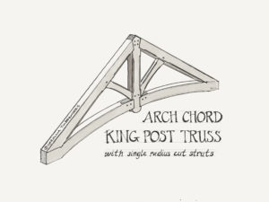 Timber Frame Truss curved arched lower chord