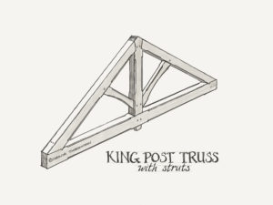 Timber Frame King Post Truss