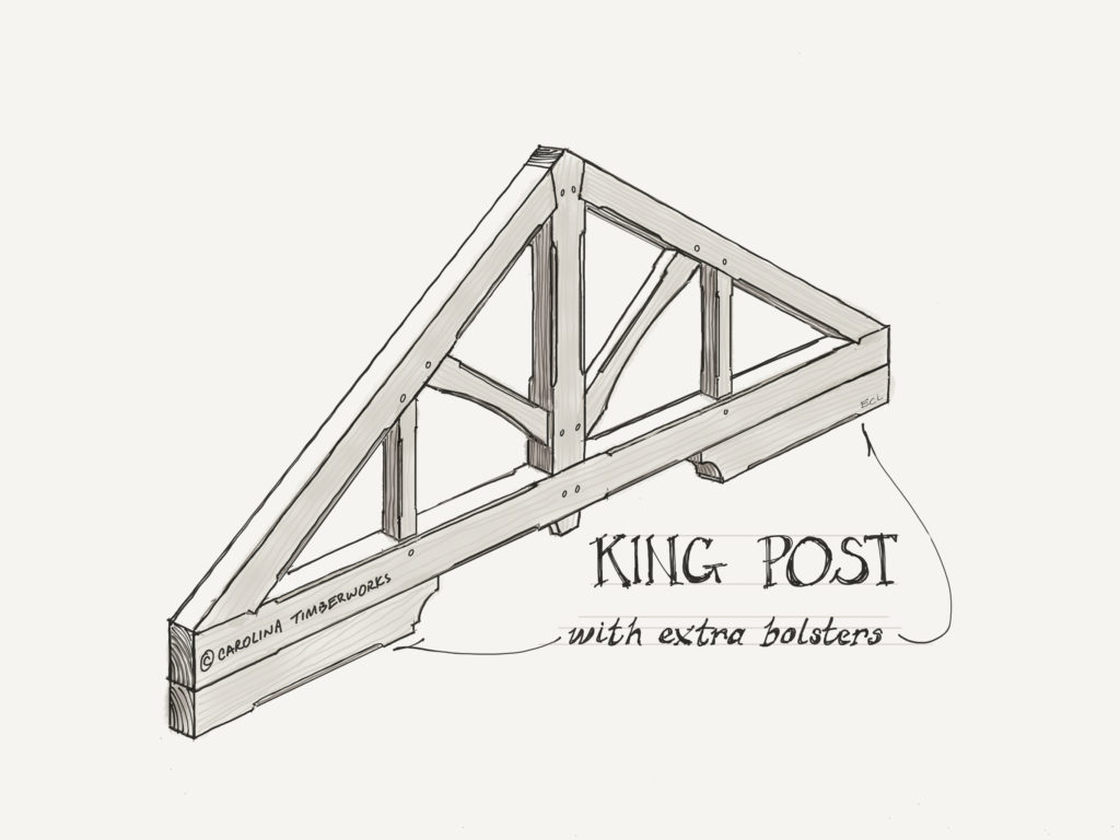 Heavy Timber Frame King Post Truss