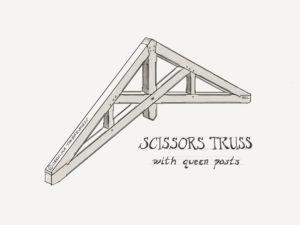Timber Frame Scissors Truss