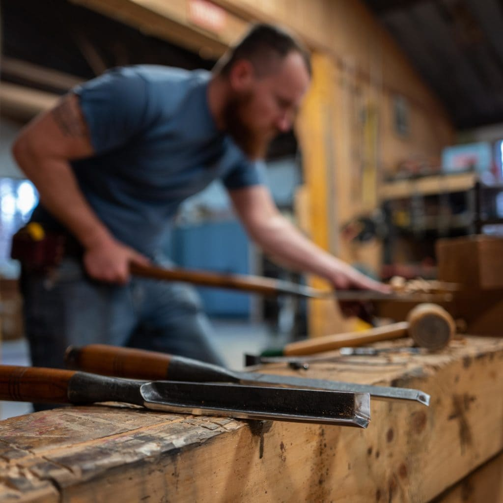 hand cut timber frame