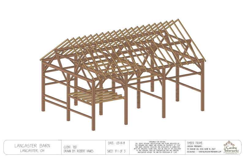 Antique Barn Timber Frame Plan