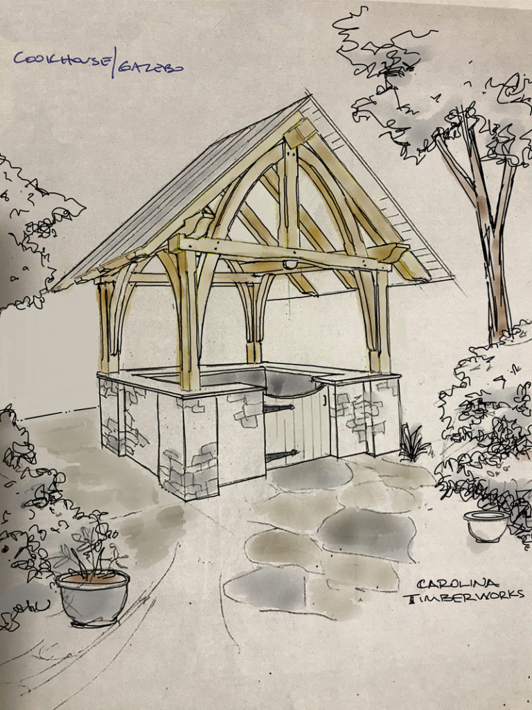 Timber Frame Cookhouse Gazebo