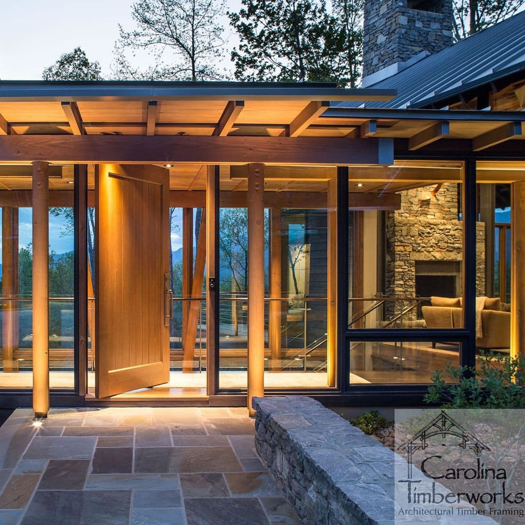 Welcome home to a new timber frame look.
