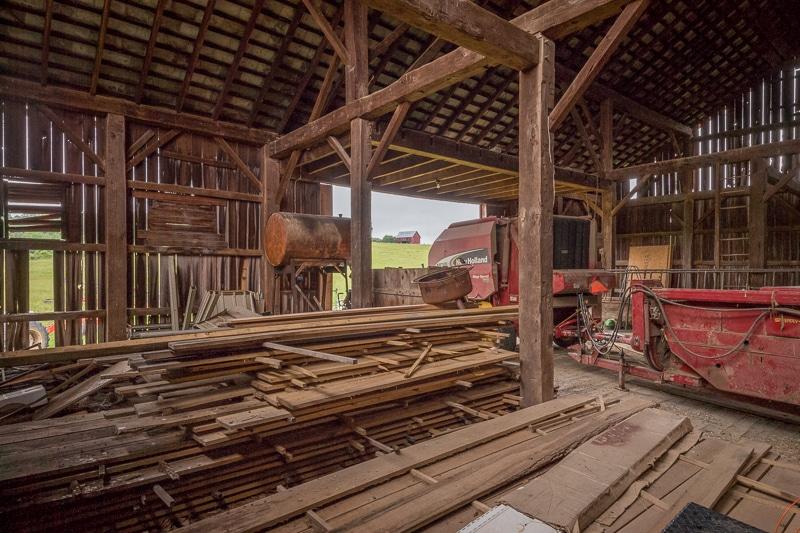 hand hewn oak barn