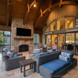 Perfect place to view the fall leaves, watch a little football, or maybe just take a nap by a crackling fire. Have at it—it's your fall fantasy!