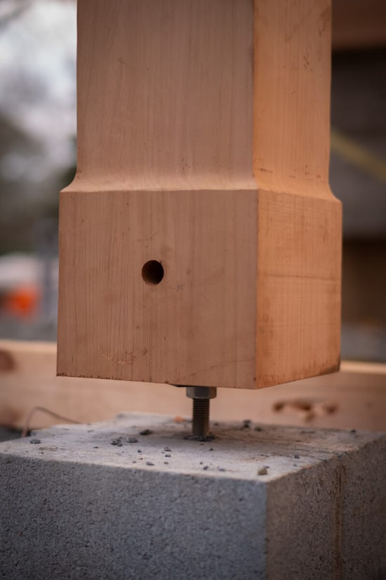 Timber Frame Post Base Hardware