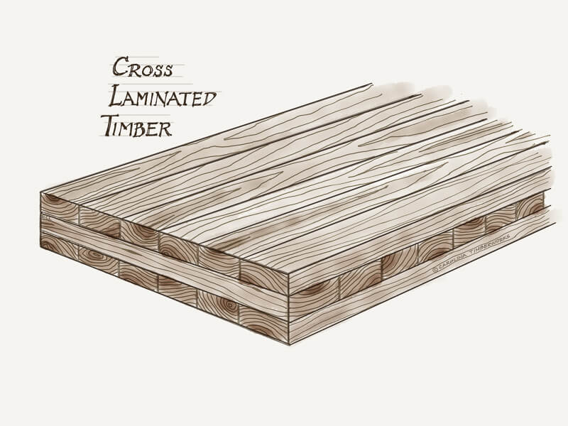 Cross Laminated Timber CLT drawing