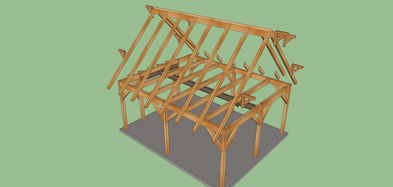 Timber Frame Garage Workshop Plan